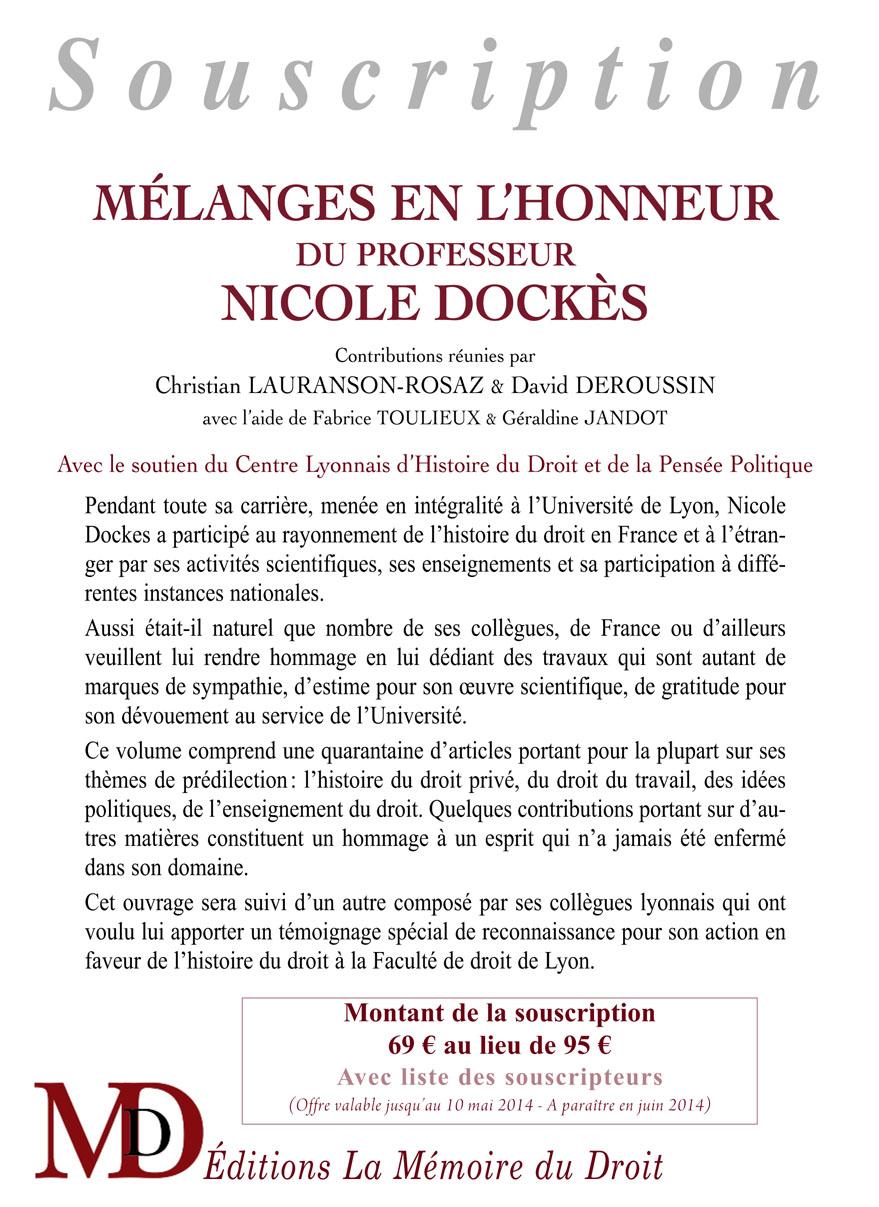 Mélanges Nicole Dockès, page 1