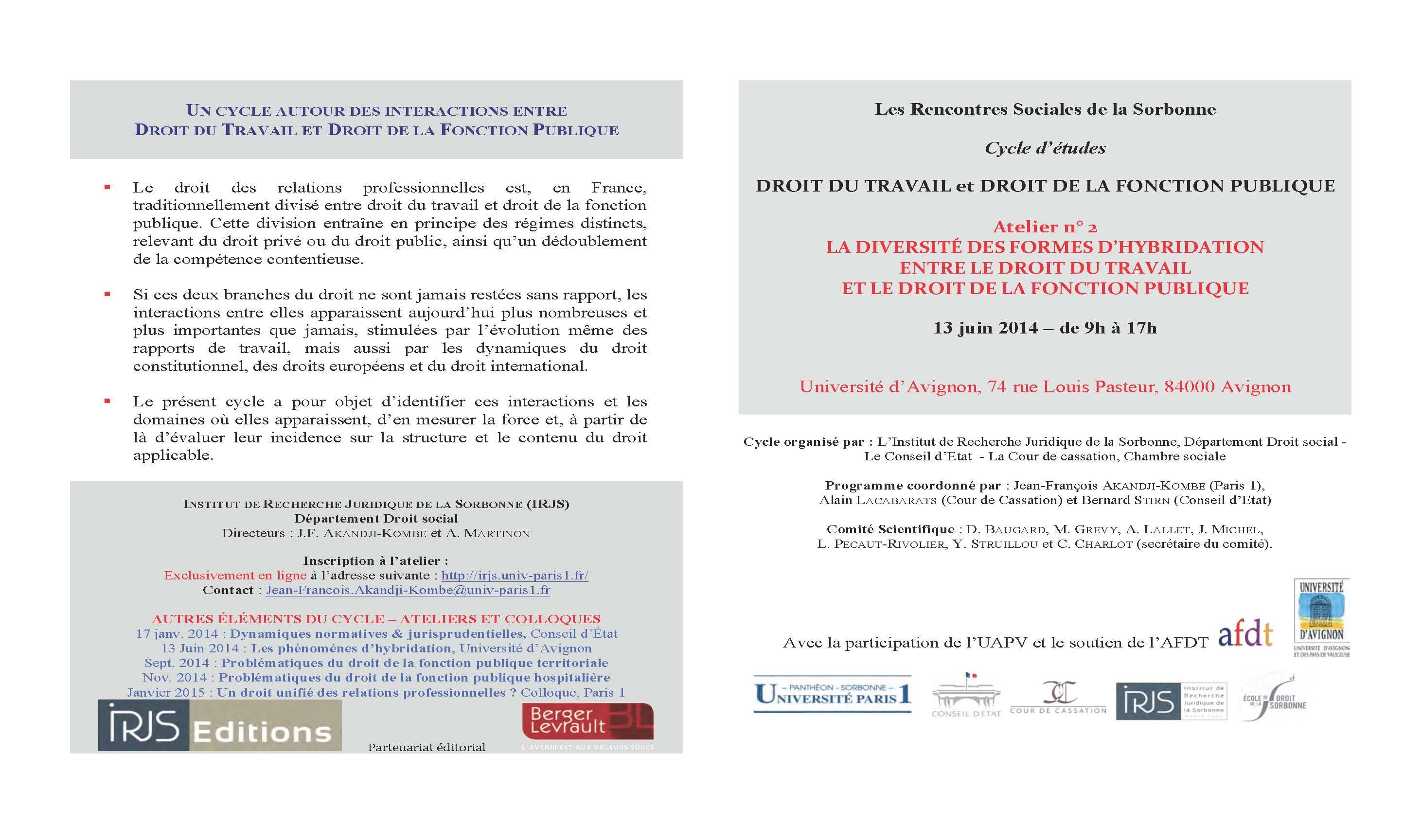 Pages de RSS - cycle DFP-DT - Atelier 2- Programme